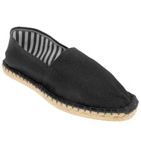 Capelli New York Espadrille With Crochet Stitching, Striped Lining On A Rubber Outsole
