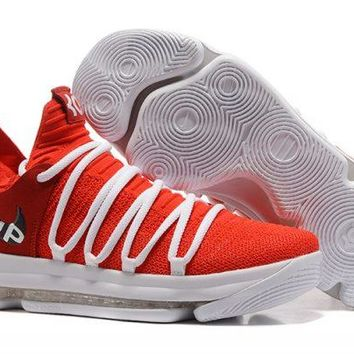 Nike KD 10 University Red White For Sale