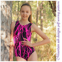 Leotards 9 sewing pattern in ladies sizes gymnastics gym ballet dance girls pdf sewing pattern