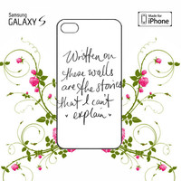 Story of my Life Lyrics iPhone 4/4S / 5/ 5s/ 5c case, Samsung Galaxy S3/ S4 / S5  case, iPod Touch 4 / 5 case