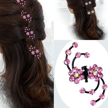 Whirlwind Flower Hair Clips (6 Pcs)