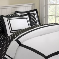 Suite Organic Duvet Cover + Sham, Black