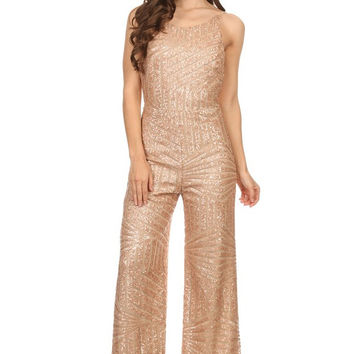 Cocktail Night Out Sequin Jumpsuit