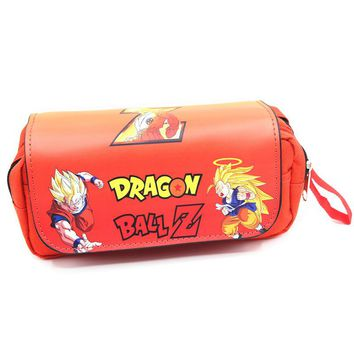 New Arrival Anime Pencil Case Dragon Ball Z/One Piece/Overwatch/Totoro Cartoon Kids Pencil Bags Make Up Case For Women
