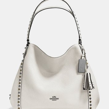 COACH OUTLINE STUDS AND GROMMETS EDIE SHOULDER BAG 31 IN LEATHER | Dillards