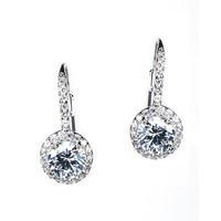 Silver Sterling Round Drop Earring Ring Jewelry Set