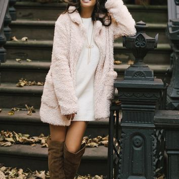 Courtney Beige Faux Fur Jacket