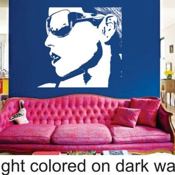 Hot Girl in Sunglasses Girl Wall Vinyl Decal Sticker Art Graphic Tattoo