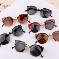 Classic Retro Vintage Style Fashion Circle Round Lens Sunglasses UV400