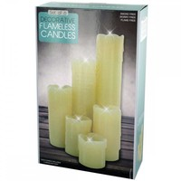 Decorative Flameless Pillar Candles Set OS329