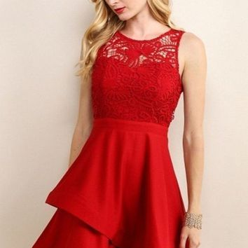 Anastasia Lace Fit and Flare Dress - LAST FEW !