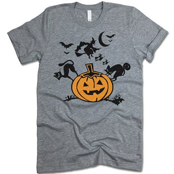 Halloween T Shirt. Pumpkin Tee. Funny Halloween Shirt. Halloween Party T-Shirt Outfit. Spooky Shirt.