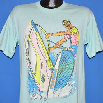 80s Windsurfing Florida Neon t-shirt Medium