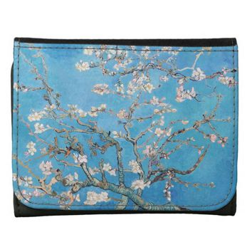 Almond Blossoms Blue Vincent van Gogh Art Painting Wallet
