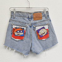 Rugrats Reworked Denim Shorts