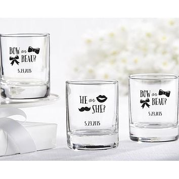 Personalized Shot Glass/Votive Holder - Gender Reveal Collection by Kate Aspen