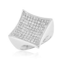 Gold 1.50 Cttw Diamond Mens Pave Ring