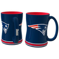 New England Patriots NFL Coffee Mug - 15oz Sculpted (Single Mug)