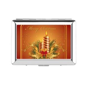 Glowing Christmas Candles Lady's Cigarette Case - Lady's Cigarette Case