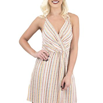 Women's BCBGeneration Striped Surplice Strappy Dress