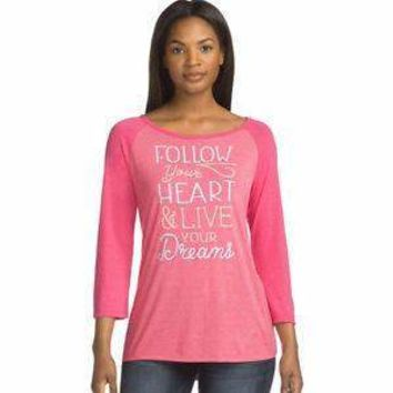Follow your Heart Baseball tee