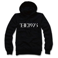 THE 1975 Hoodie T-shirt-03 Music Indy Rock TOP TEE Vest Unisex Top (US-M / ASIA-L, BLACK)