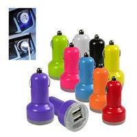 DUAL PORT USB CAR CHARGER for smart phone and tablets.