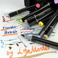 Professional Brush FINECOLOR Art Marker Twin Tip Soft Brush/Round Comic Design Art Supplies