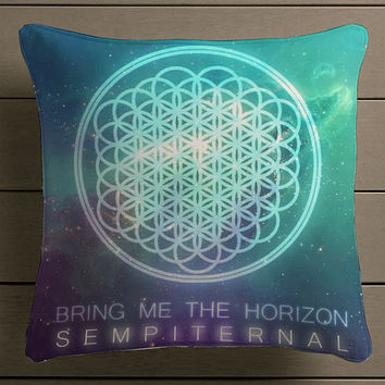 Bring Me The Horizon Sepiternal Square Pillow Case Custom Zippered Pillow Case one side and two side