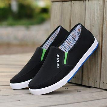 new spring men canvas breathable casual shoes size 7,8,9