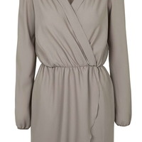 **Long Sleeve Wrap Dress by Love - New In
