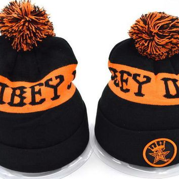 Obey Women Men Embroidery Beanies Knit Wool Hat Cap-22