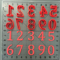 Cambria Math Number Cookie Cutters