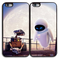 Robot Best Friends Matches Case for iPhone and Samsung Series,Two Differrent Phone Models Mixed OK