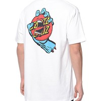 Santa Cruz Screaming Dot White T-Shirt
