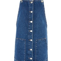 MOTO Button Through Pinafore Dress | Topshop