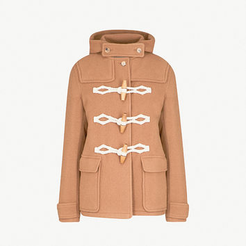 JW ANDERSON Hooded wool duffle jacket