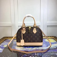 LV Louis Vuitton WOMEN'S MONOGRAM LEATHER BB HANDBAG SHOULDER BAG