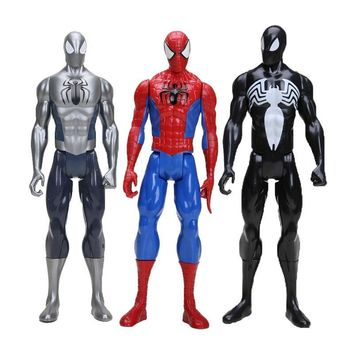 """12"""" 30CM Marvel the avengers Black Suit Spiderman Spider-man Action Figure Spider man Toy Collectible Model Toy"""