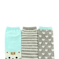 Patterned Ankle Socks - 3 Pack