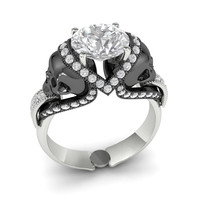 Original Skull Engagement Ring  LOWEST PRICE EVER!