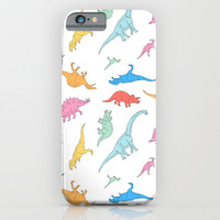 Dino Doodles iPhone & iPod Case by Julien Missaire | CORSAC