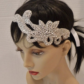 Bridal Rhinestone Headband ROMANCE Bridal by BellaCescaBoutique