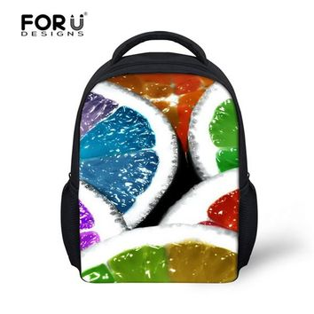School Backpack FORUDESIGNS 3D Fruit Strawberry Kids School Bags For Little Girls Book Bags Children Schoolbag Satchel Toddler Mochilas Infantil AT_48_3