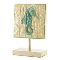 Sea Horse Standing Plaque Decor