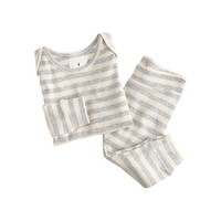 crewcuts Baby Pajama Set In Heather Stripes