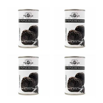 4 Pack Urbani - Black Truffles and Mushrooms Sauce 6.4 oz. (180g)