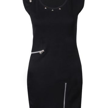 Queen Of Darkness Minidress Decorated With Zips