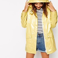 ASOS High Shine Rain Mac
