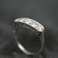 Five Stone Diamond & Platinum Engagement Ring by Ruby Gray's | Ruby Gray's Antique & Vintage Rings